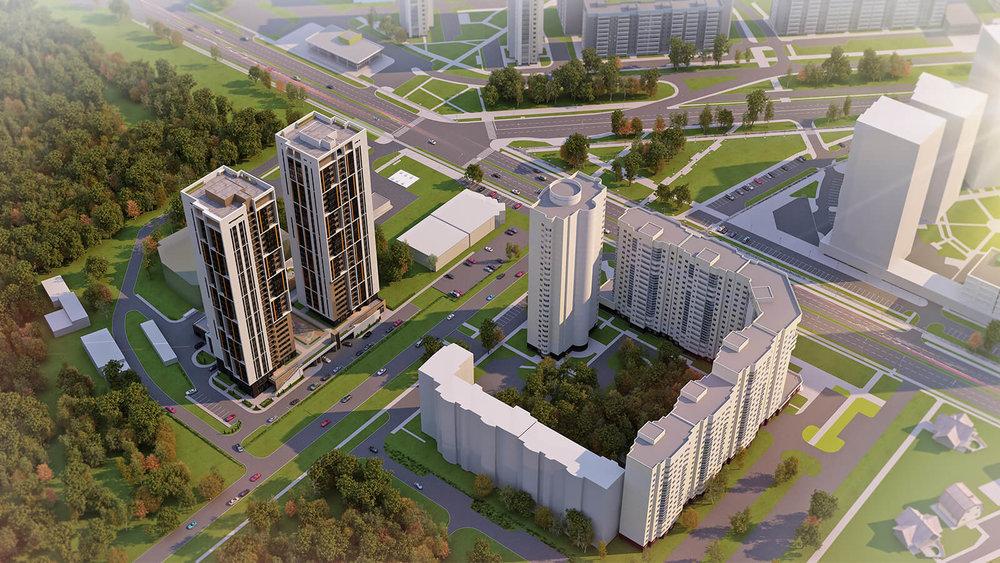 Жилые башни «Евразия» - Екатеринбург, Автовокзал, ул. Островского, 2 - фото 1