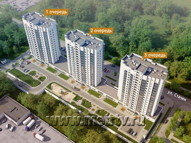 Комплекс апартаментов по ул. Стачек - Екатеринбург, Эльмаш, ул. Стачек, 4 - фото 1