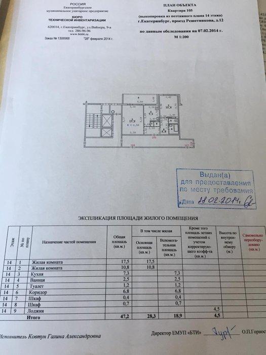 Екатеринбург, ул. Решетникова, 12 - фото квартиры (1)