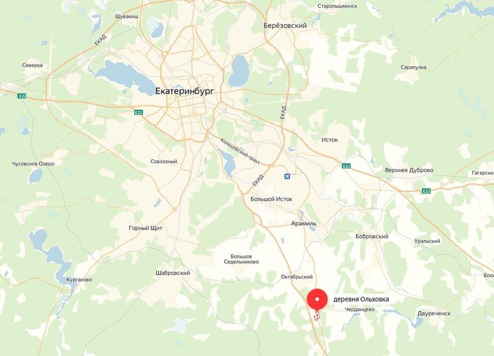 п. Ольховка, ул. Рябиновая, 33 (городской округ Верхняя Пышма) - фото земельного участка (1)