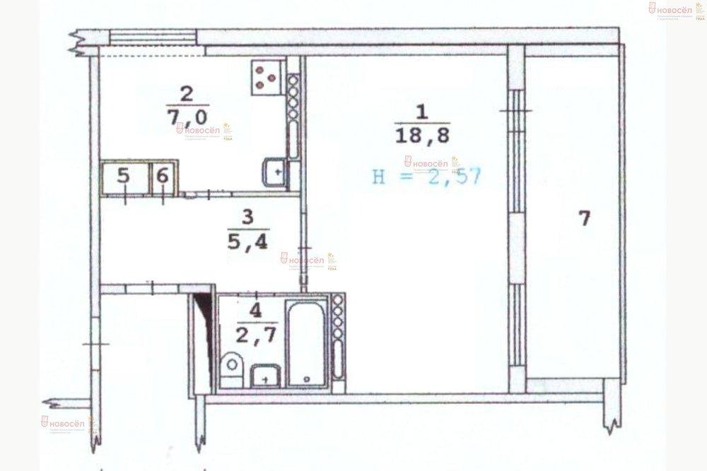 Екатеринбург, ул. Большакова 13 (Парковый) - фото квартиры (1)