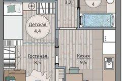 Екатеринбург, ул. Бахчиванджи 1/в (Кольцово) - фото квартиры