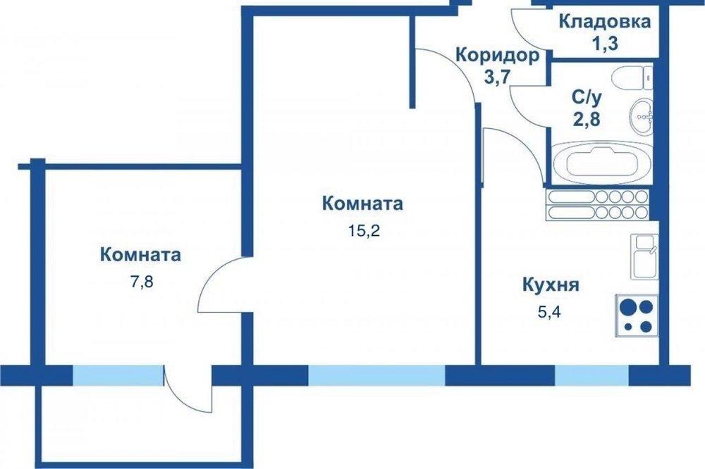 Екатеринбург, ул. Волгоградская, 41 (Юго-Западный) - фото квартиры (1)