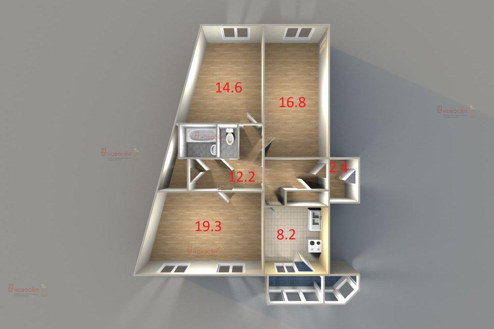 Екатеринбург, ул. Анны Бычковой 20 (Синие Камни) - фото квартиры (1)
