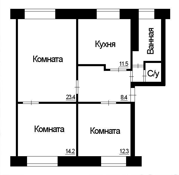 Екатеринбург, ул. Сакко и Ванцетти, 58 (Центр) - фото квартиры (1)