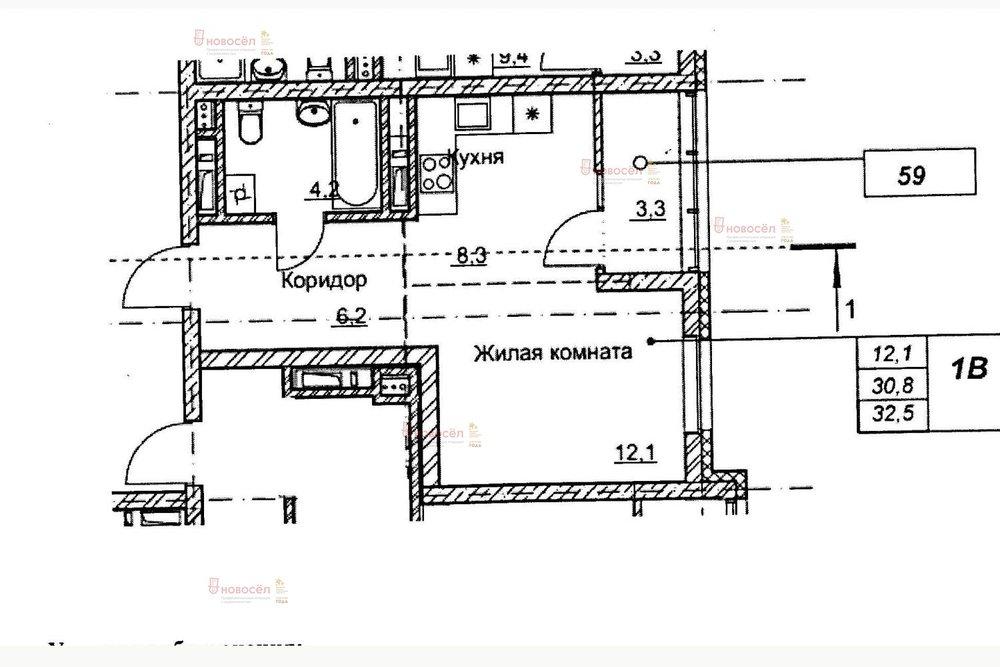 Екатеринбург, ул. Трамвайный, 2/1 (Пионерский) - фото квартиры (1)