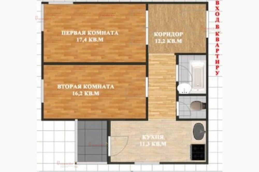 Екатеринбург, ул. Краснолесья, 109 (Академический) - фото квартиры (1)