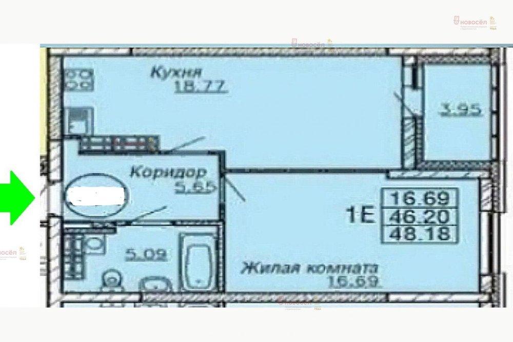 Екатеринбург, ул. Хрустальногорская, 88 (Широкая речка) - фото квартиры (1)