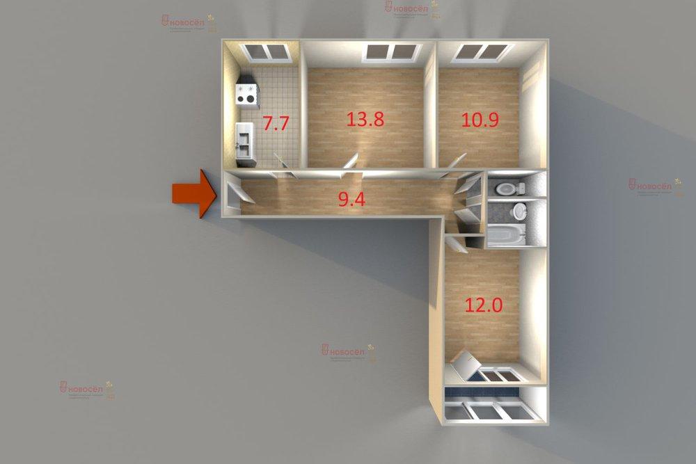 Екатеринбург, ул. Крауля, 69 (ВИЗ) - фото квартиры (1)