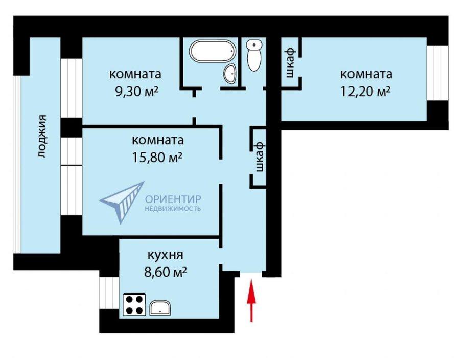 Екатеринбург, ул. Энгельса, 38 (Центр) - фото квартиры (1)