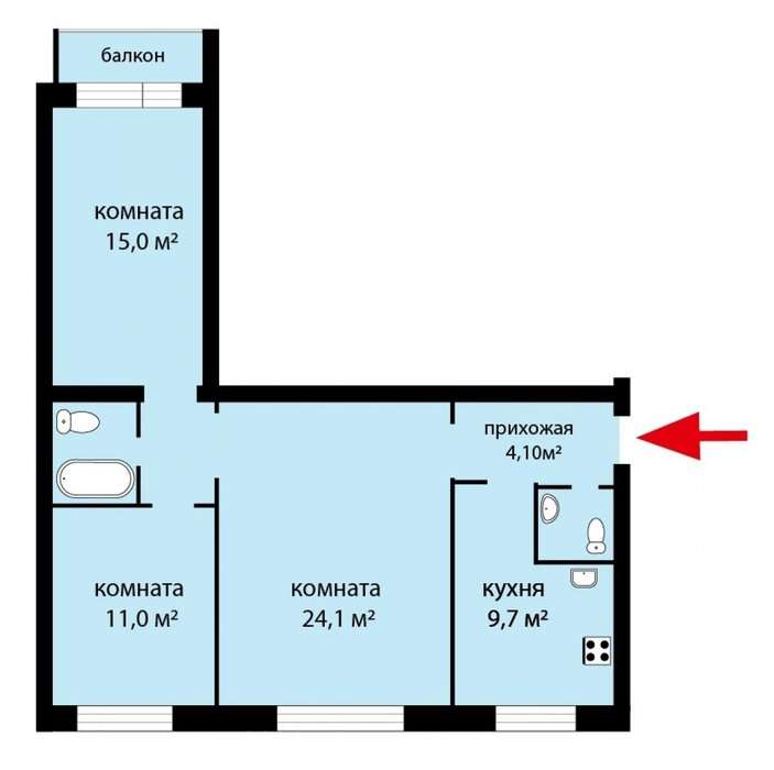 Екатеринбург, ул. Татищева, 77 (ВИЗ) - фото квартиры (1)