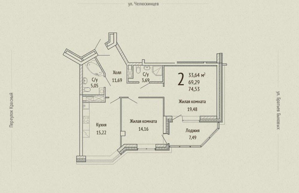 Екатеринбург, ул. Красный, 1 (Центр) - фото квартиры (1)