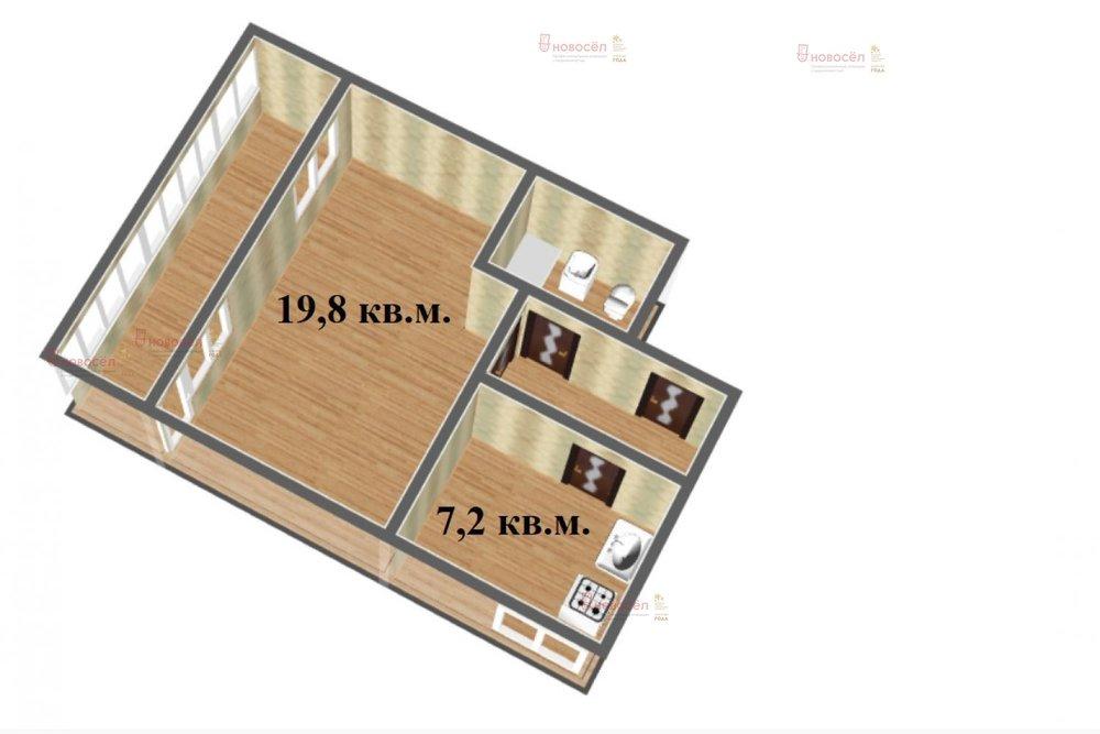 Екатеринбург, ул. Онуфриева, 60 (Юго-Западный) - фото квартиры (1)