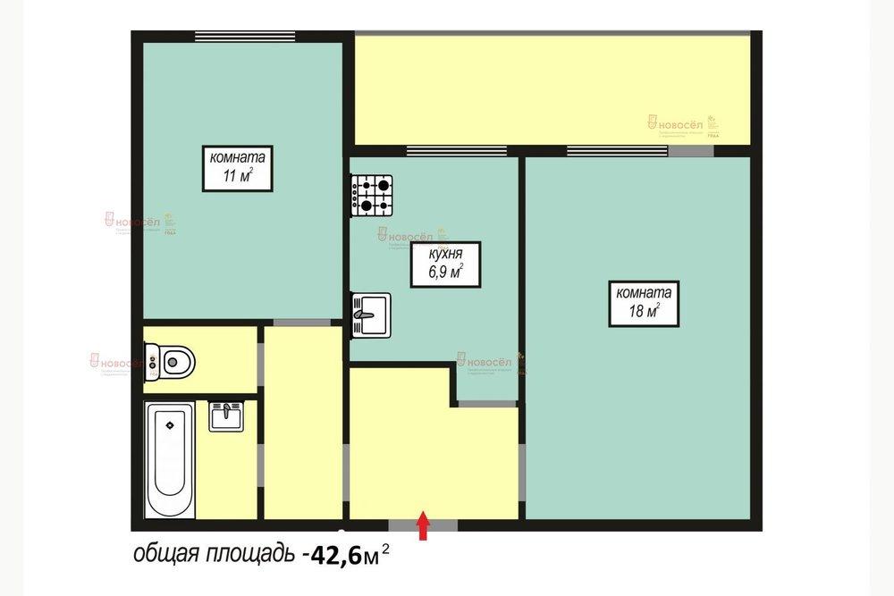 Екатеринбург, ул. Бардина, 9 (Юго-Западный) - фото квартиры (1)
