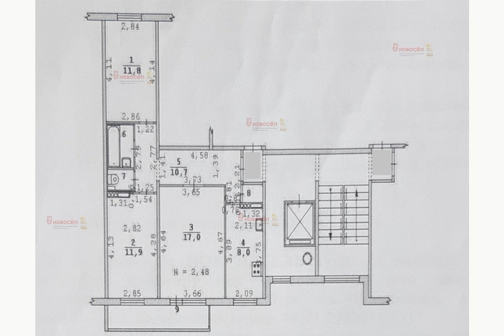 Екатеринбург, ул. Черепанова, 16 (Заречный) - фото комнаты (1)