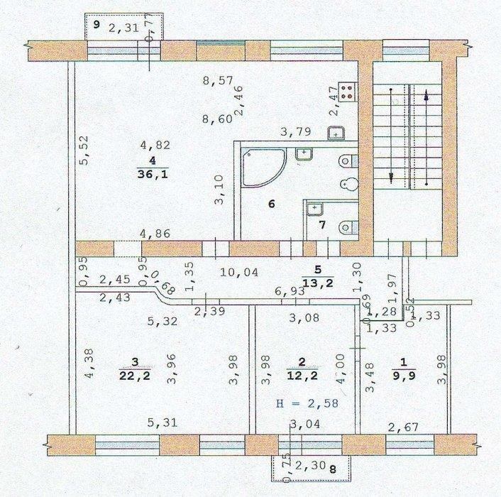 Екатеринбург, ул. Красина, 127 (Пионерский) - фото квартиры (1)