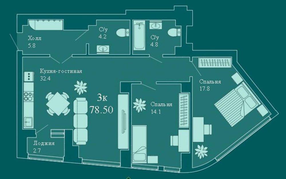 Екатеринбург, ул. Хохрякова, 63 (Центр) - фото квартиры (1)