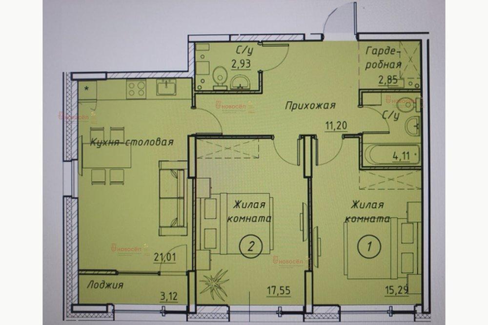 Екатеринбург, ул. Ткачей, 17 (Автовокзал) - фото квартиры (1)