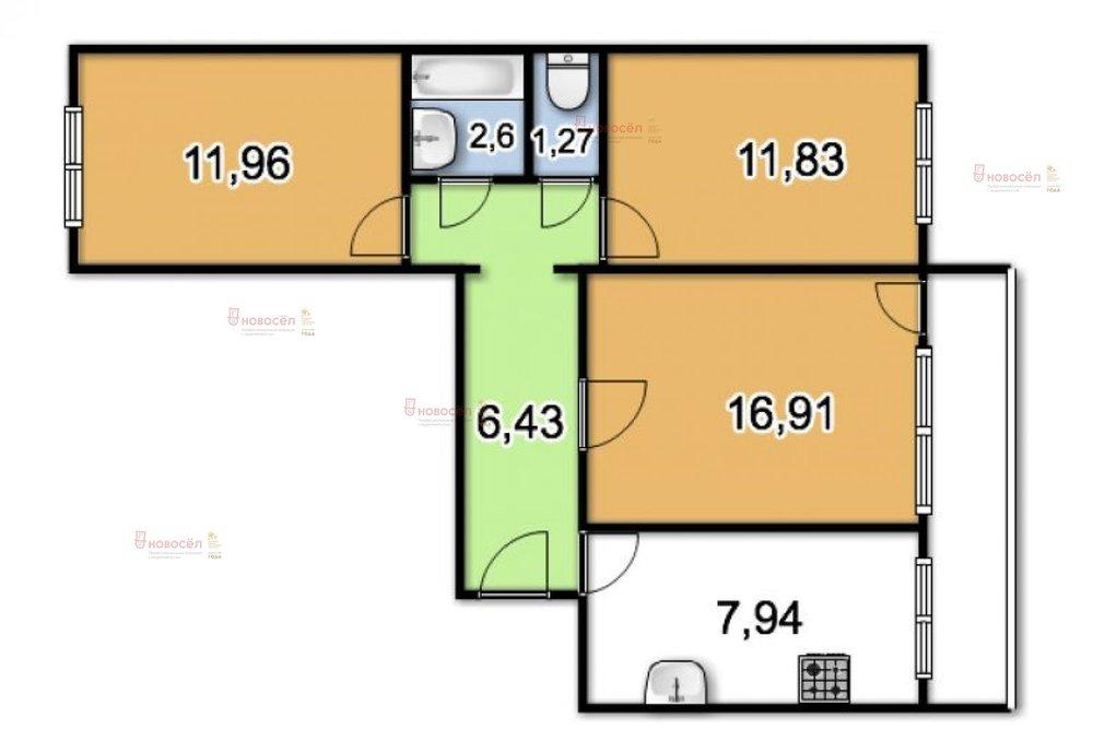 г. Первоуральск, ул. Комсомольская, 5А (городской округ Первоуральск) - фото квартиры (1)