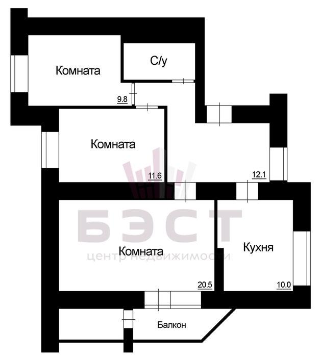 Екатеринбург, ул. Бебеля, 120 (Заречный) - фото квартиры (1)
