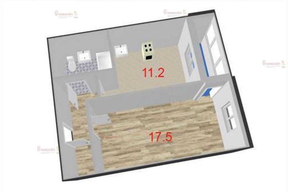 Екатеринбург, ул. Краснолесья, 155 (Академический) - фото квартиры (1)