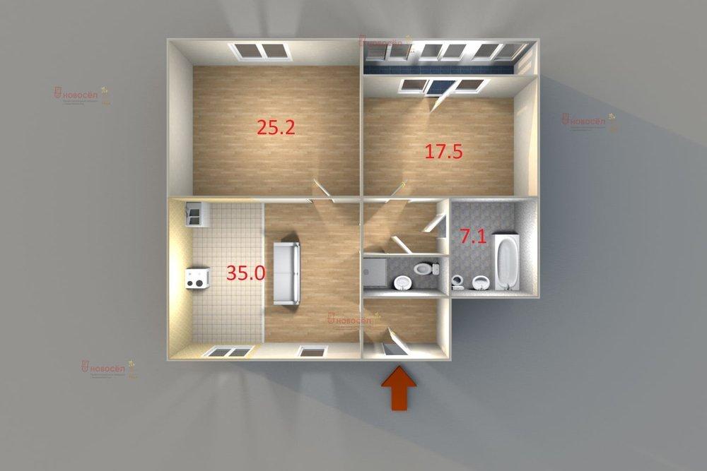 Екатеринбург, ул. Фролова, 29 (ВИЗ) - фото квартиры (1)