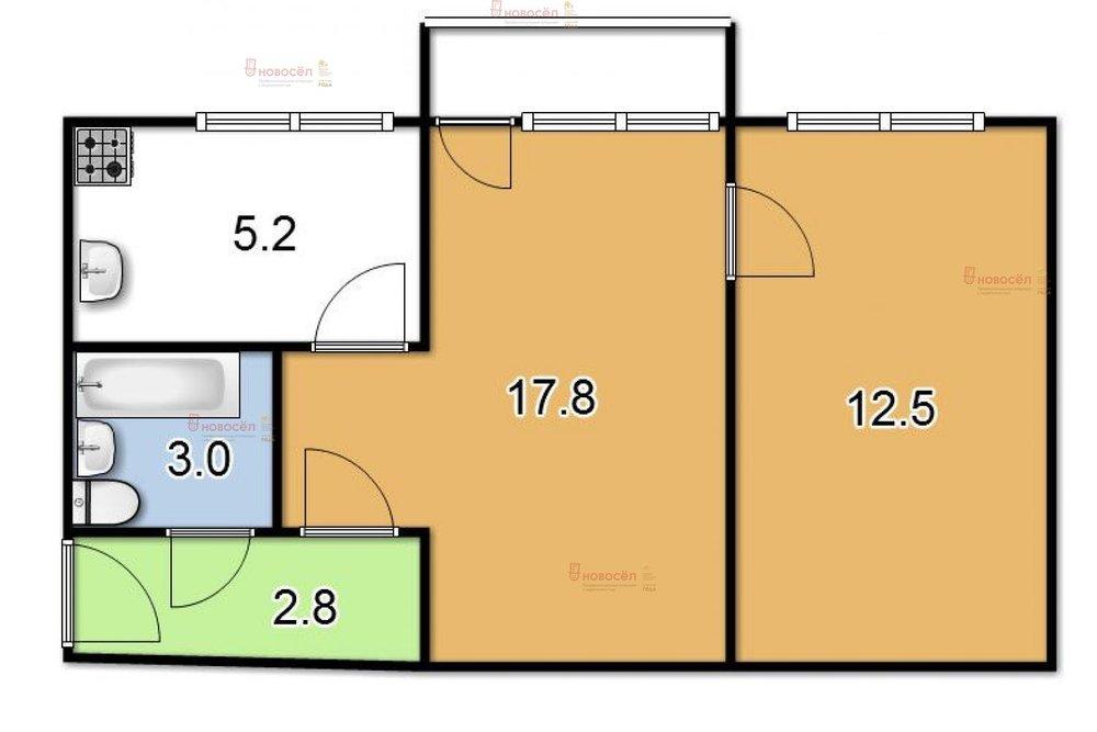 Екатеринбург, ул. Мамина-Сибиряка, 97 (Центр) - фото квартиры (1)