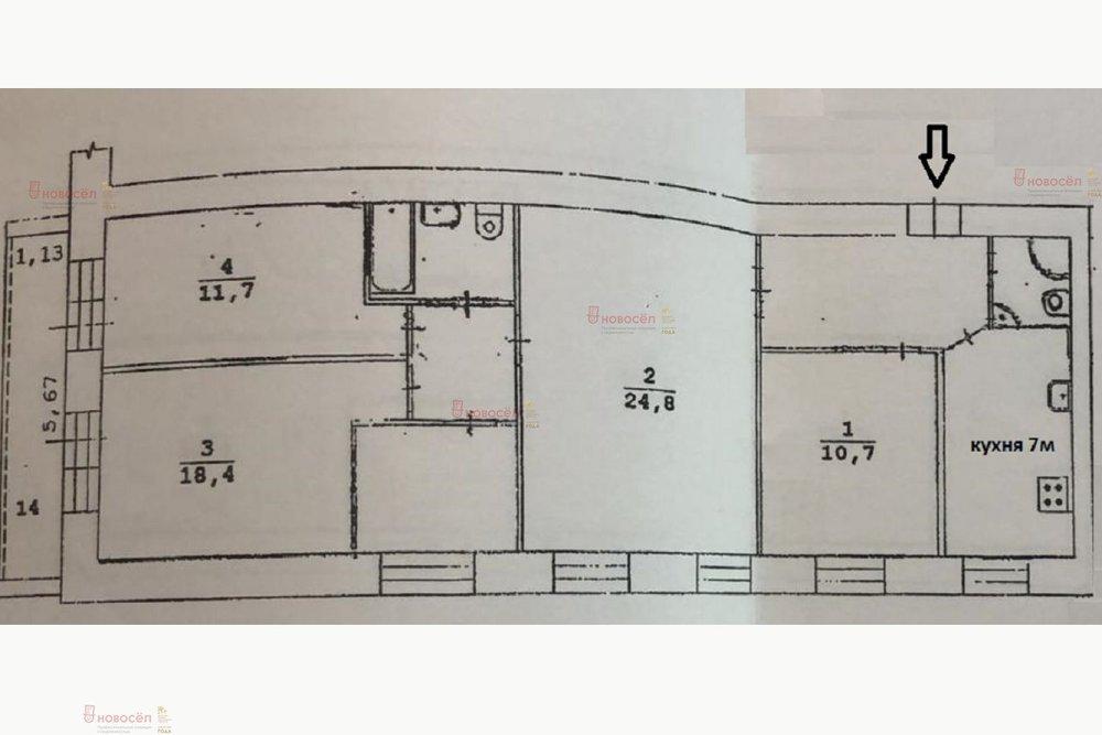 Екатеринбург, ул. Малышева, 84 (Центр) - фото квартиры (1)