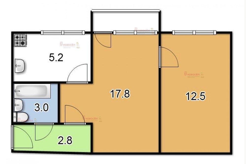 Екатеринбург, ул. Первомайская, 33 (Центр) - фото квартиры (1)