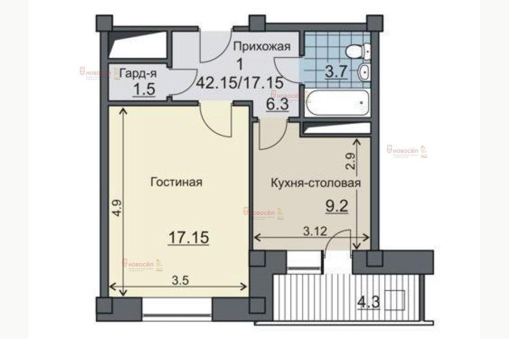 Екатеринбург, ул. Пехотинцев, 21/а (Новая Сортировка) - фото квартиры (1)