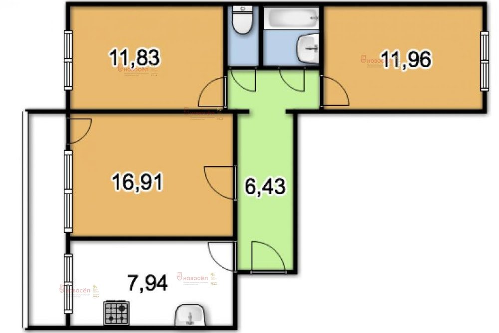 Екатеринбург, ул. Парковый, 43 (Пионерский) - фото квартиры (1)
