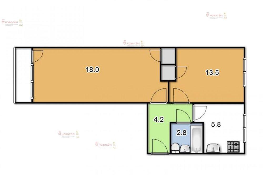 Екатеринбург, ул. Ленина, 54/3 (Центр) - фото квартиры (1)