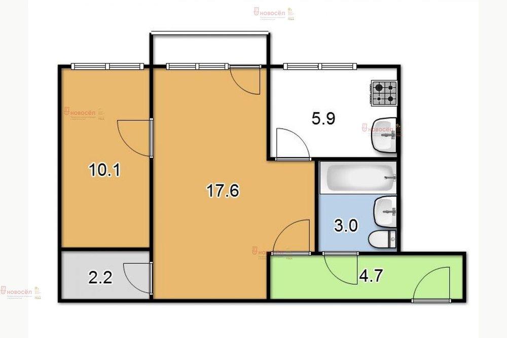 Екатеринбург, ул. Энгельса, 22 (Центр) - фото квартиры (1)