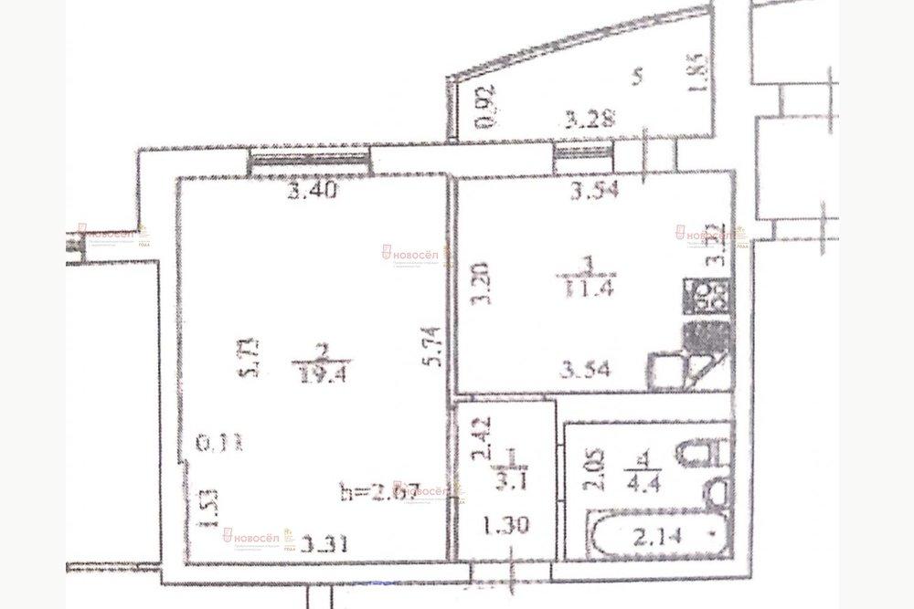 Екатеринбург, ул. Амундсена, 68/б (Юго-Западный) - фото квартиры (1)