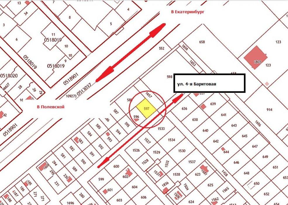 Екатеринбург, ул. 4-я Баритовая - фото земельного участка (1)