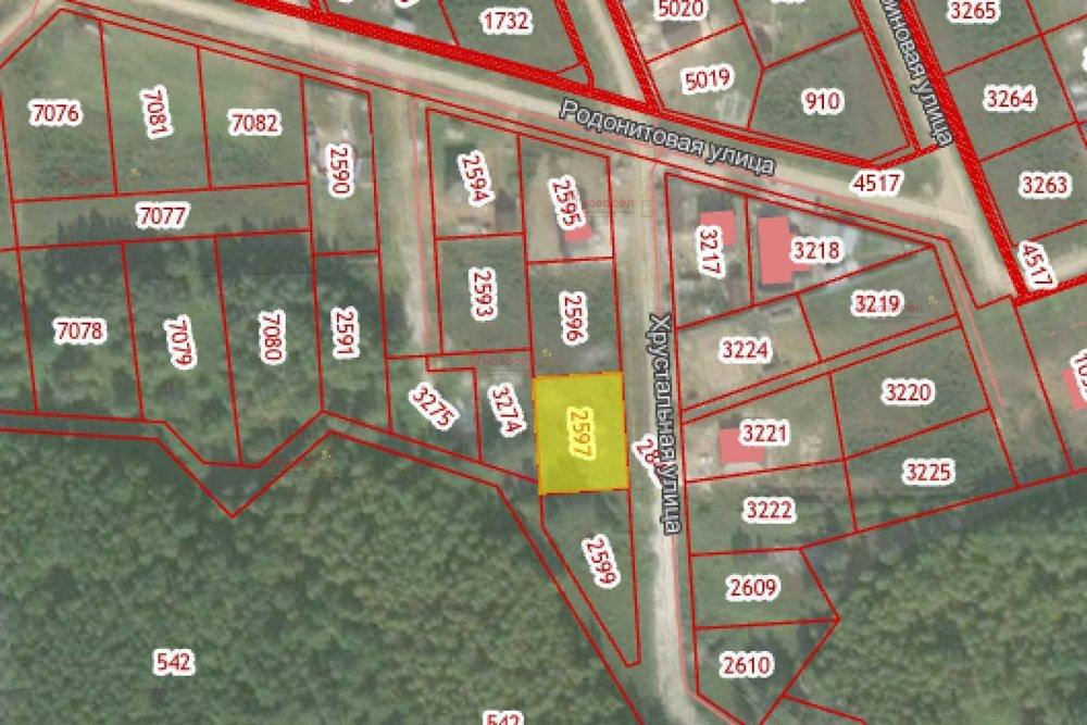 к.п. Становлянка, ул. Хрустальная, 44 (городской округ Березовский) - фото земельного участка (1)