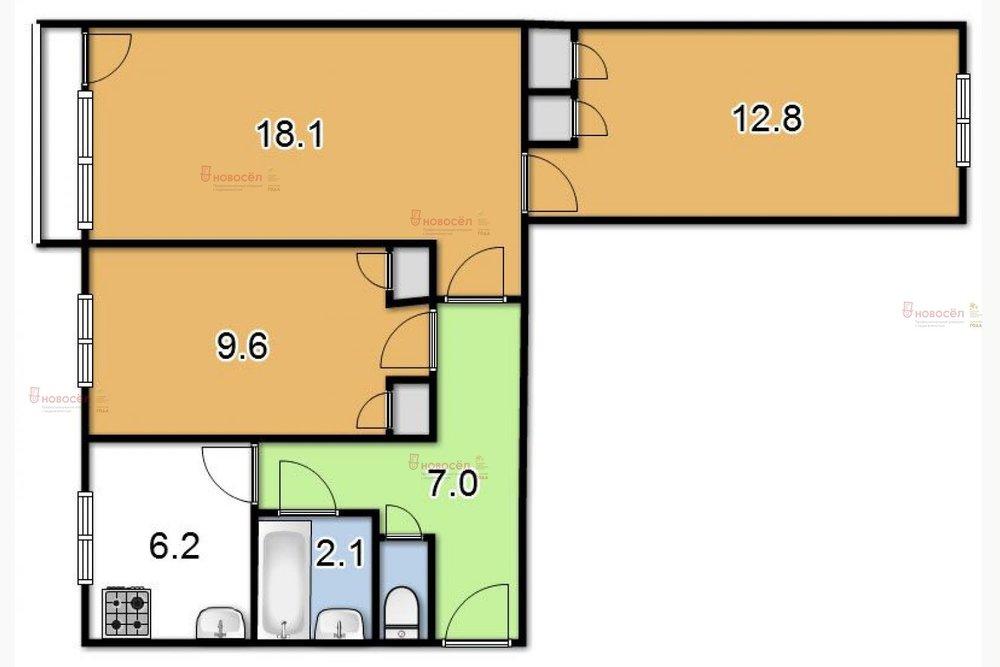 Екатеринбург, ул. Академика Бардина, 46 (Юго-Западный) - фото квартиры (1)