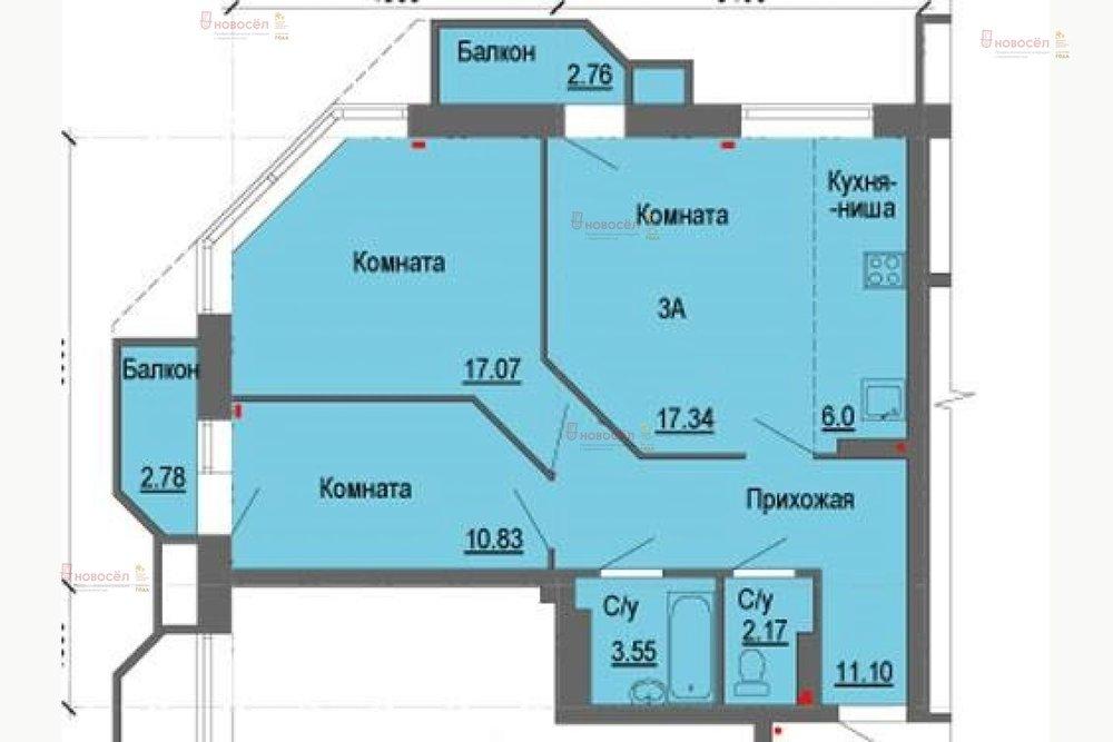 Екатеринбург, ул. Самолетная, 31 (Уктус) - фото квартиры (1)