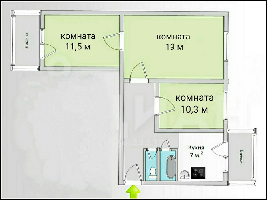 Екатеринбург, ул. Победы, 14 (Уралмаш) - фото квартиры (1)