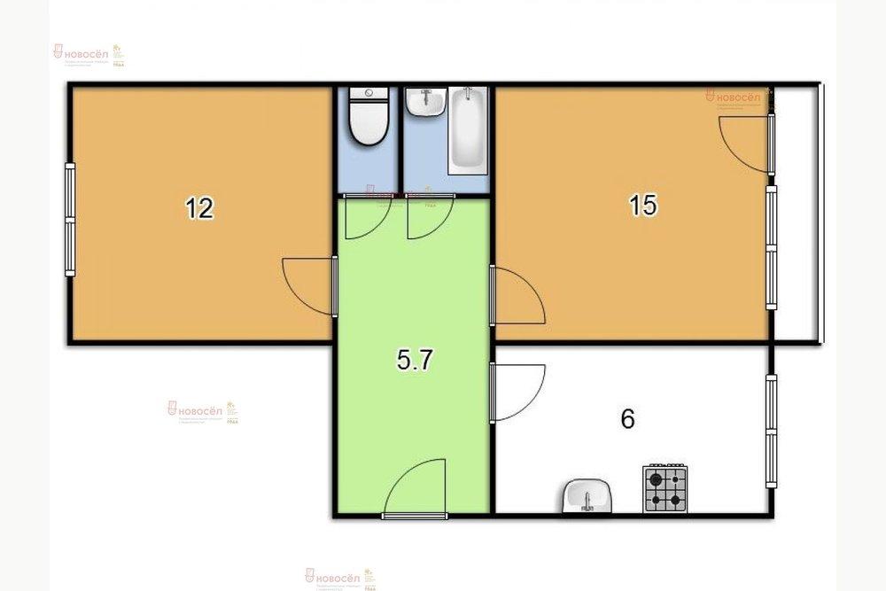Екатеринбург, ул. Менделеева, 14 (Пионерский) - фото квартиры (1)