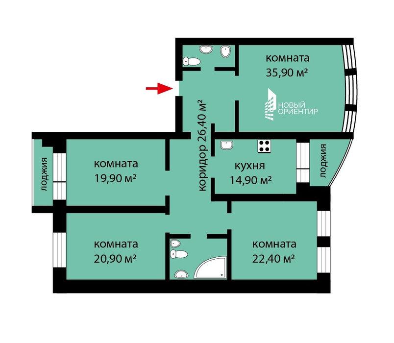 Екатеринбург, ул. Народной воли, 69 (Центр) - фото квартиры (1)