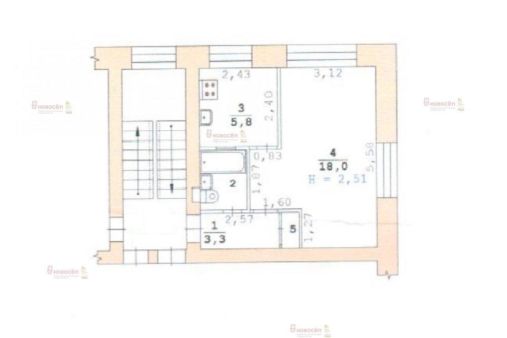 Екатеринбург, ул. Камчатская, 43 (Пионерский) - фото квартиры (1)