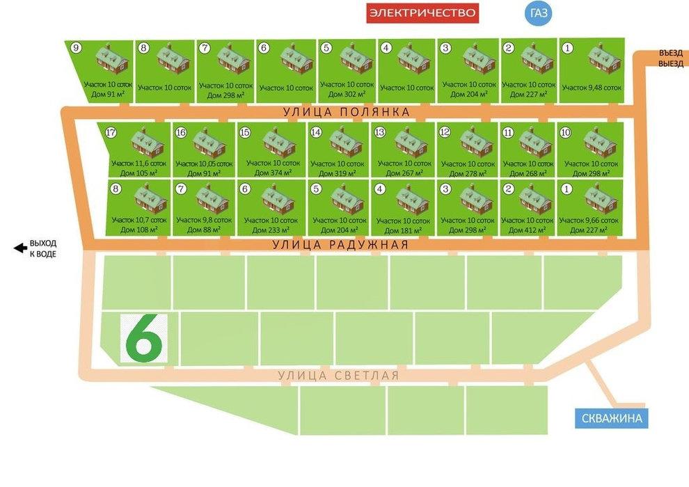 к.п. Полянка, ул. Светлая, 6 (городской округ Белоярский, п.Растущий) - фото земельного участка (5)