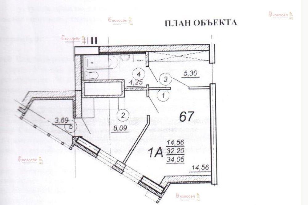 Екатеринбург, ул. Фурманова, 124 (Юго-Западный) - фото квартиры (1)