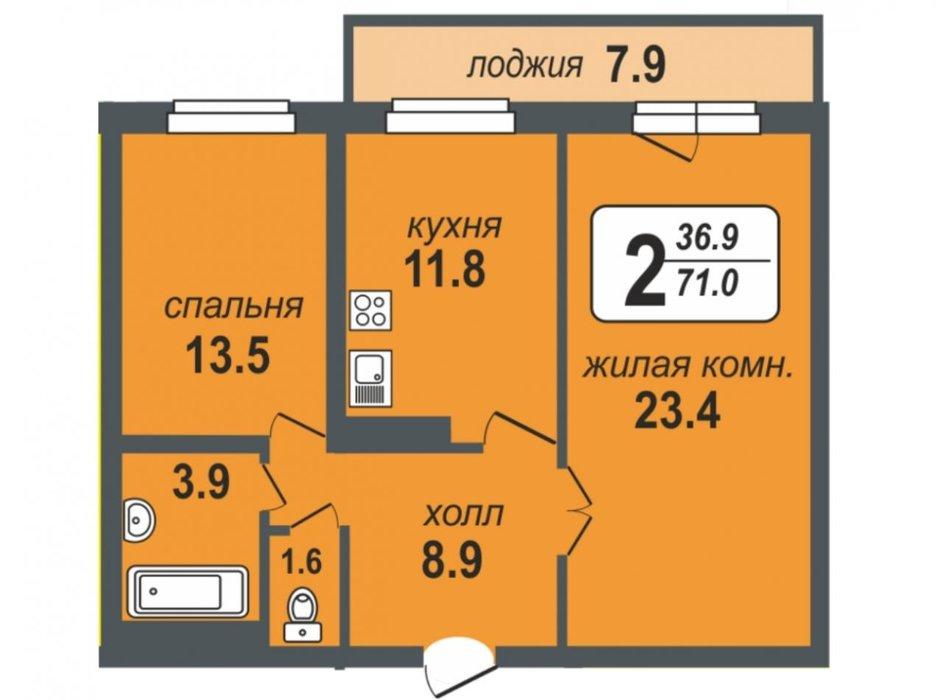 Екатеринбург, ул. Громова, 28 (Юго-Западный) - фото квартиры (2)