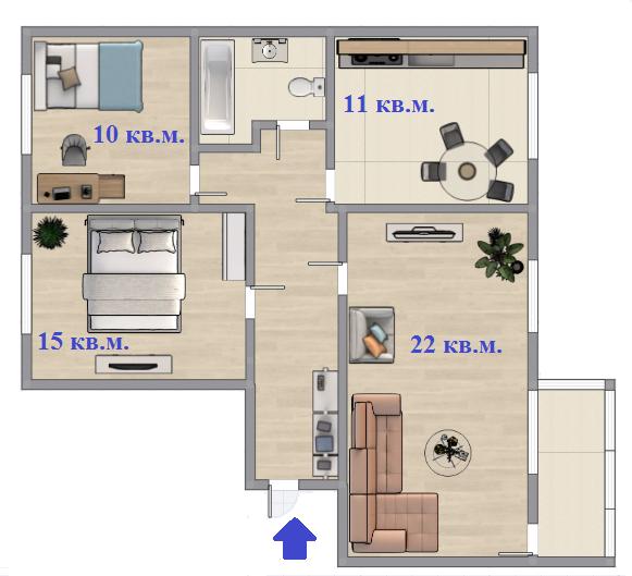 Екатеринбург, ул. Анны Бычковой, 22 (Синие Камни) - фото квартиры (2)