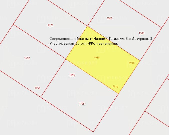 г. Нижний Тагил, ул. 6-я Лазурная, 3 (городской округ Нижний Тагил) - фото земельного участка (7)