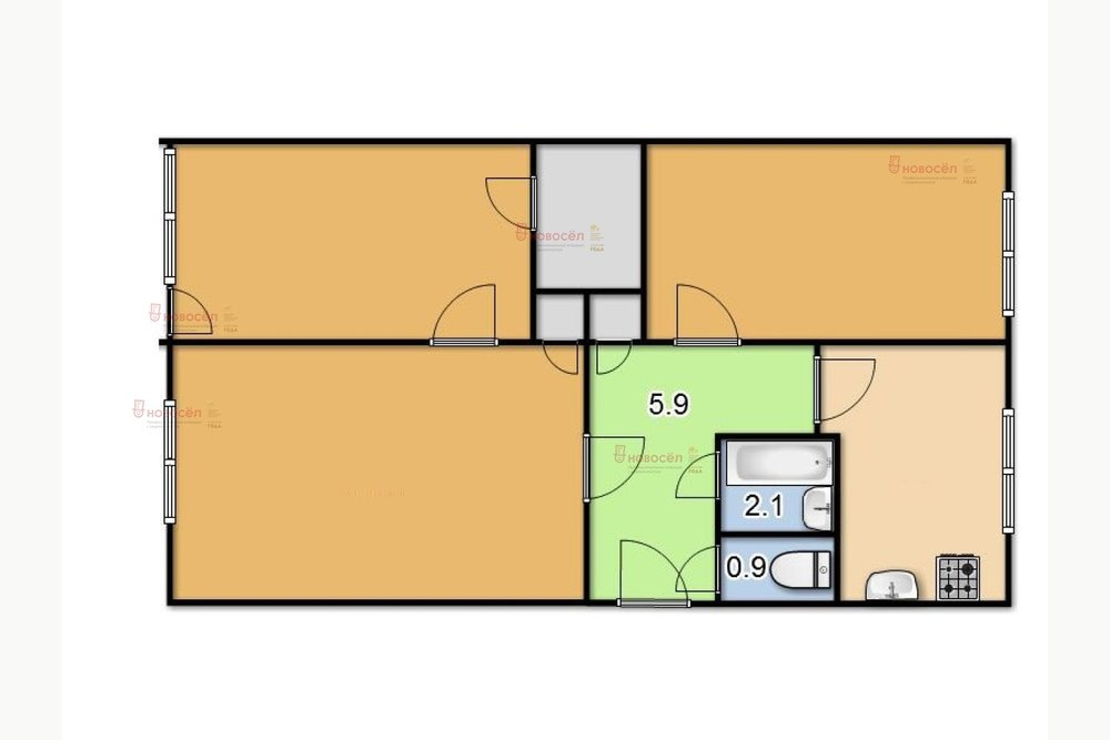 Екатеринбург, ул. Шейнкмана, 19 (Центр) - фото квартиры (1)